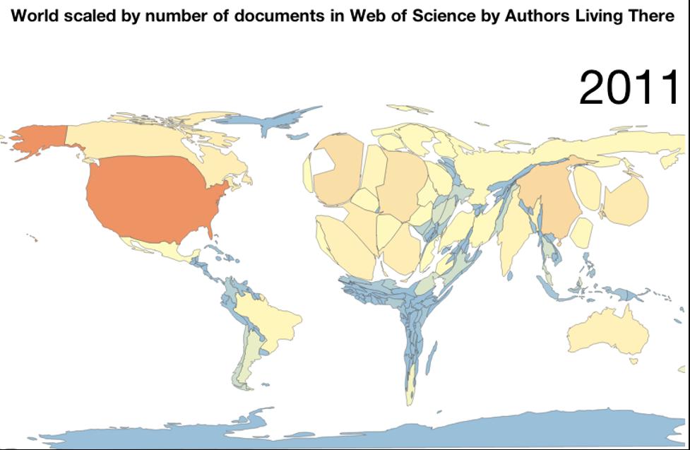 Sự thiếu vắng các nghiên cứu từ các nước đang phát triển  trên hệ thống Web of Science của Thomson Reuters.