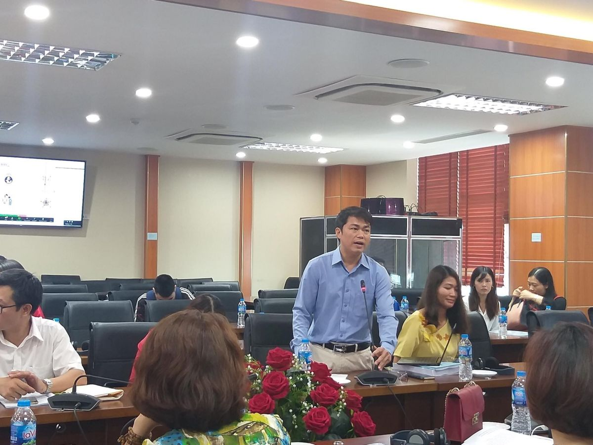 Ảnh 3: Ông Đoàn Hữu Minh, cán bộ chương trình Phát triển Liên hợp quốc (UNDP) và nguyên là trưởng phòng CTXH của Cục Bảo trợ xã hội