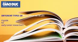 Một số loại bài báo khoa học: một cách phân loại từ Taylor and Francis