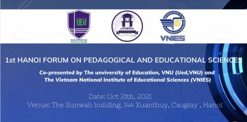 Trường Đại học Giáo dục (ĐHQG Hà Nội), Viện KHGD Việt Nam thông báo tổ chức Diễn đàn Hà Nội lần thứ nhất về khoa học giáo dục và sư phạm