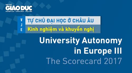 Thang đánh giá mức độ tự chủ đại học: Kinh nghiệm từ Hiệp hội các trường đại học ở Châu Âu