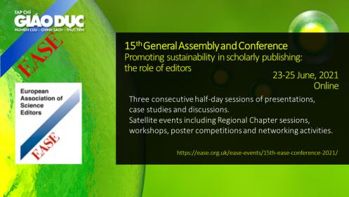 """23-25/6: Hội thảo khoa học quốc tế: """"Thúc đẩy tính bền vững trong xuất bản khoa học: vai trò của các biên tập viên"""""""