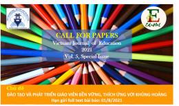THƯ MỜI: Gửi bài báo tới Vietnam Journal of Education (Speacial issue)