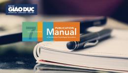 Kỹ năng viết bài báo khoa học: Cách trình bày trích dẫn và tài liệu tham khảo theo APA 7th