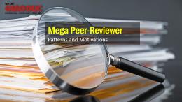 Siêu bình duyệt (Mega Peer-Reviewer): mô hình và động lực của hoạt động bình duyệt khoa học