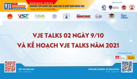 VJE Talks 02, ngày 9/10 và Kế hoạch VJE Talks năm 2021