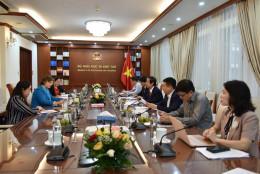 Bộ trưởng Nguyễn Kim Sơn tiếp Trưởng Đại diện UNICEF Việt Nam
